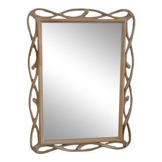 Vintage Twisted Branch Wood Mirror For Sale