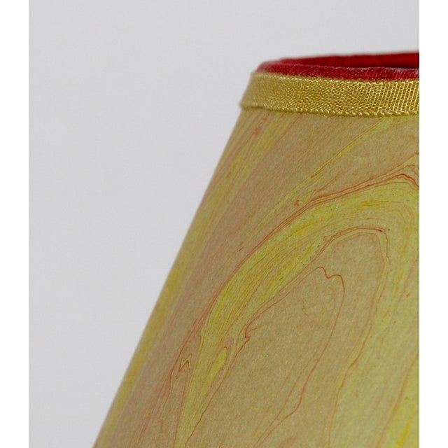 Olive & Red Marble Lampshade - Image 3 of 4