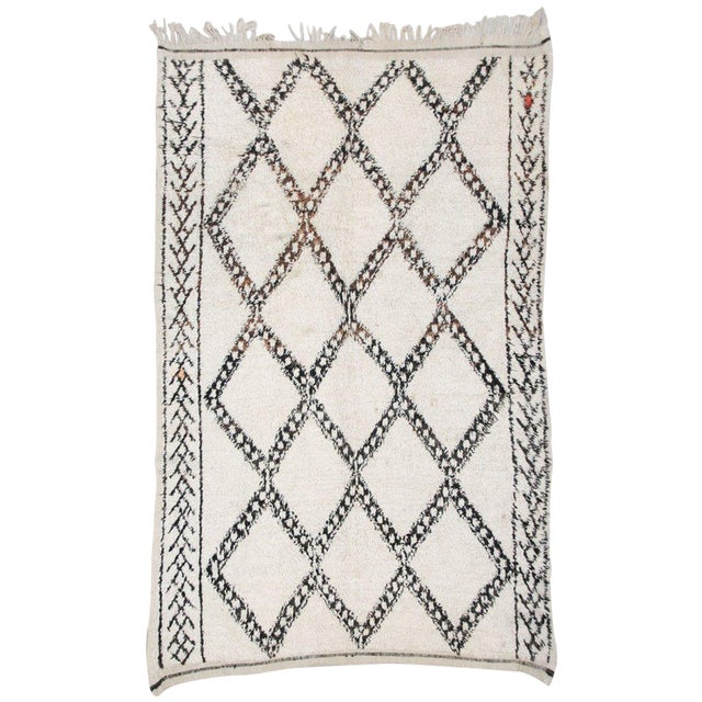 Vintage Beni Ourain Carpet - 5′9″ × 9′ - Image 1 of 6