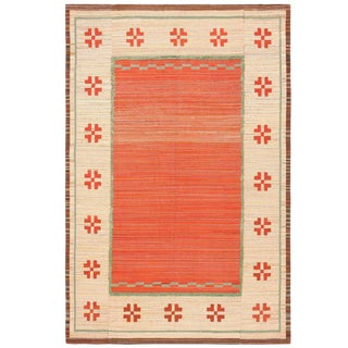 Vintage Scandinavian Swedish Kilim Rug - 7′10″ × 12′ For Sale