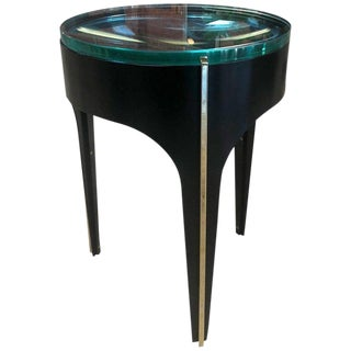 Ma+39's Custom Magnifying Lens End Table in Black For Sale