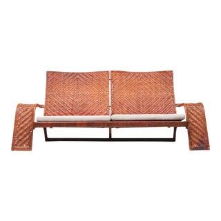 Marzio Cecchi Post-Modern Leather 2-Seater Couch For Sale