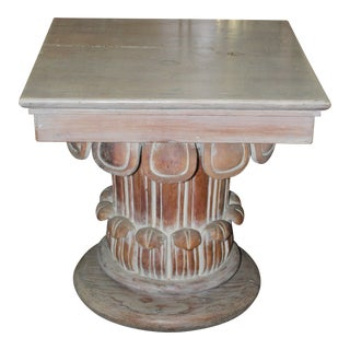 20th Century Art Nouveau Square Pedestal Table For Sale
