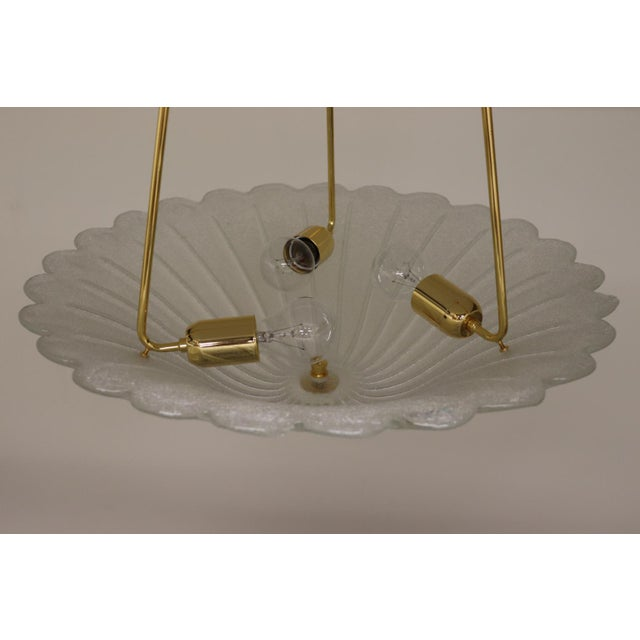 Vintage Mid-Century Modern Murano Glass Pendant Lamp For Sale - Image 11 of 13