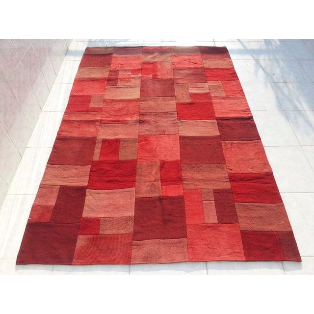 """Floor Antique Patchwork Carpet -- 5'1"""" X 7'6"""""""