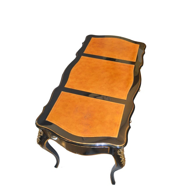 Red In the Manner of French Louis XV Writing Desk With Stool by Drexel For Sale - Image 8 of 13