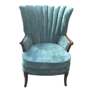 Early 20th C. Antique Channel Back Chair For Sale