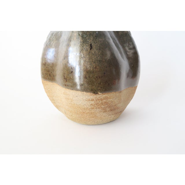 Vintage Ceramic Studio Pottery Vase For Sale - Image 5 of 6