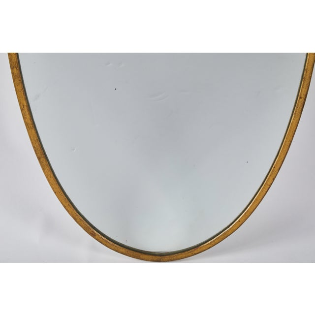 Early 20th Century Art Deco Italian Brass Mirror For Sale In Los Angeles - Image 6 of 8