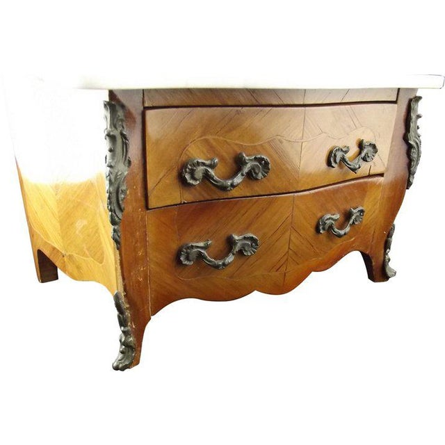 Miniature Louis XIV Marble-Top Commode For Sale - Image 6 of 7
