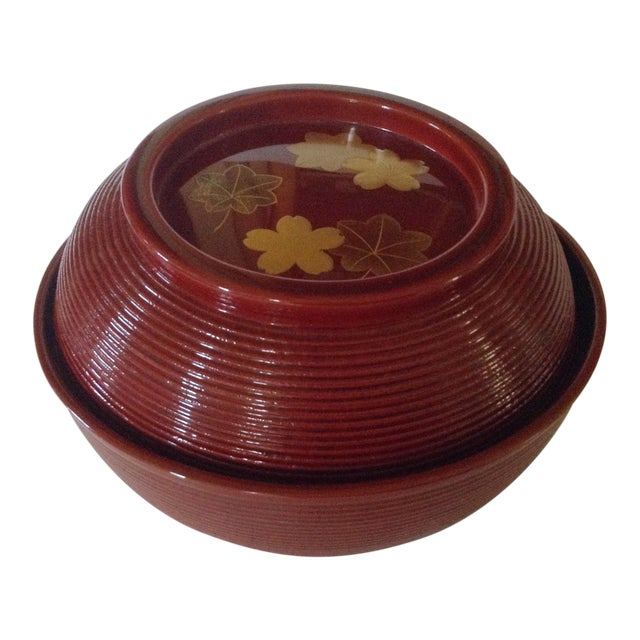 Japanese Lacquered Soup Bowl For Sale