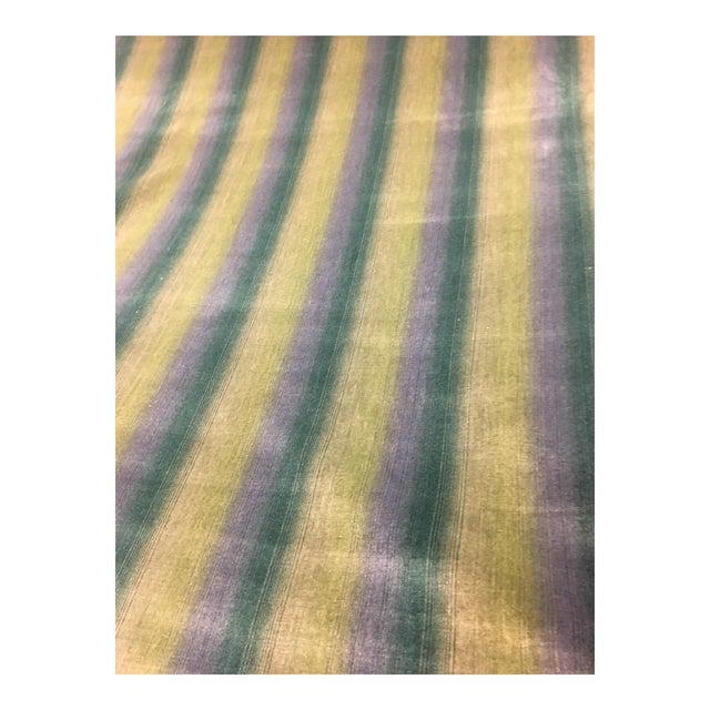 Brunschwig & Fils Linear Cotton & Viscose Velvet Ombre Stripe Fabric - 14 1/2 Yds. For Sale