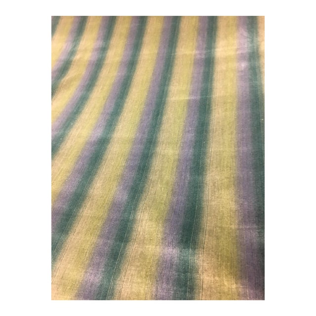 Brunschwig & Fils Linear Velvet Stripe Fabric - 14 1/2 Yds. For Sale