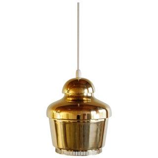 Early Alvar Aalto Brass Model A330 Pendant Lamp For Sale