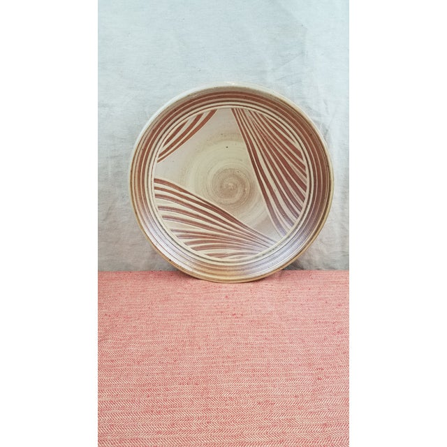 Dave Butterfield Studio Pottery Platter For Sale - Image 4 of 4