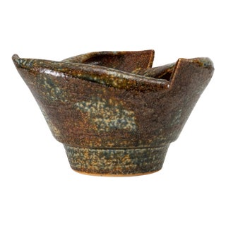 Rolled-Edge Ceramic Bowl For Sale