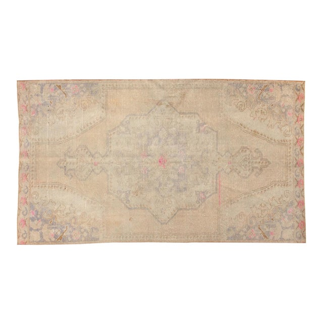 Vintage Distressed Oushak Rug - 4' x 7' - Image 1 of 11