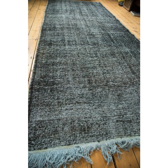 "Vintage Overdyed Gallery Rug Runner - 4'11""x11'10"" - Image 6 of 9"