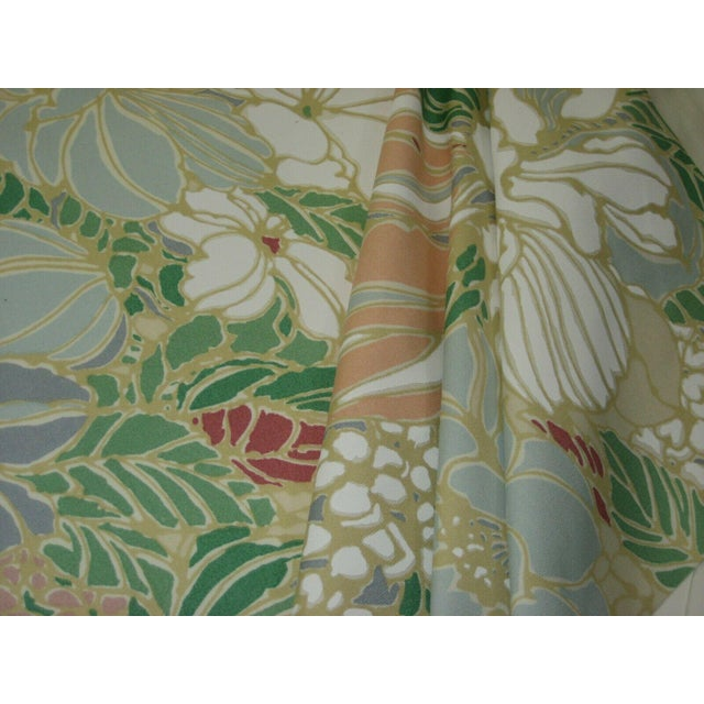 Mid-Century Modern Vintage Floral Sunbrella Indoor/Outdoor Upholstery Fabric- 4 Yards For Sale - Image 3 of 6
