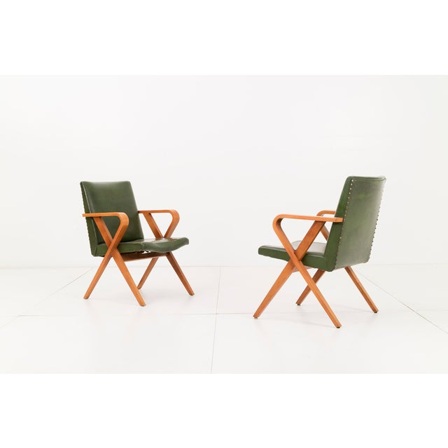 Henry Glass Pair of Henry Glass Armchairs For Sale - Image 4 of 5