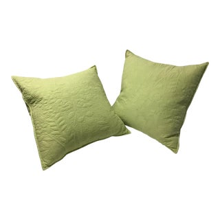 Green Apple Pillows - a Pair For Sale