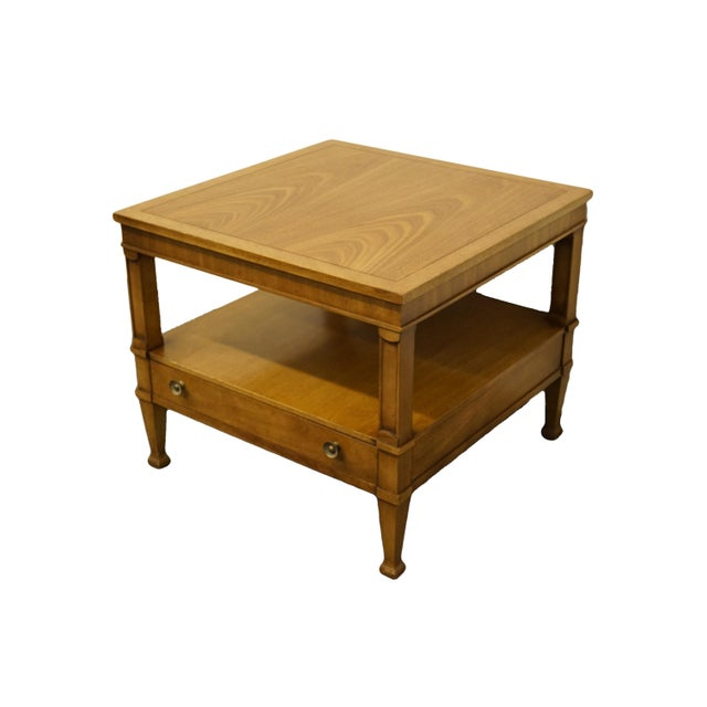 "Drexel Heritage Triune Collection mahogany 26"" square accent end table 585-311. We specialize in High End Used Furniture..."