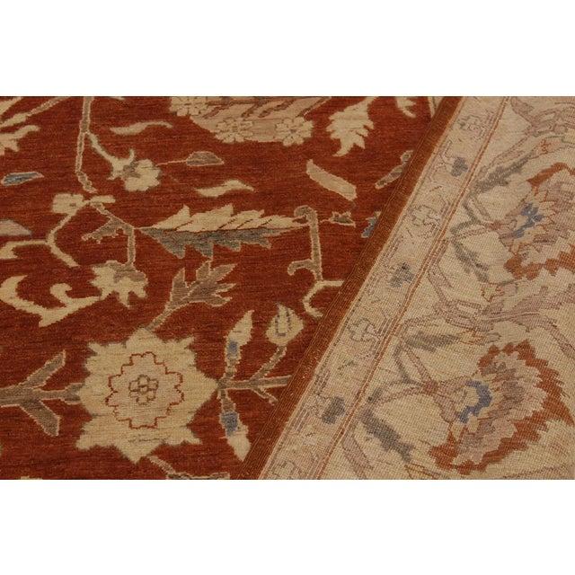 Kafkaz Peshawar Barbar Rust/Gold Wool Rug -8'11 X 12'9 For Sale In New York - Image 6 of 8