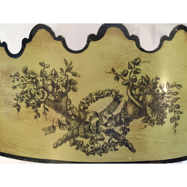 Vintage Italian Toleware Cachepot - Image 4 of 6