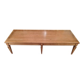 1960s Mid-Century Classic Fruitwood Coffee Table For Sale