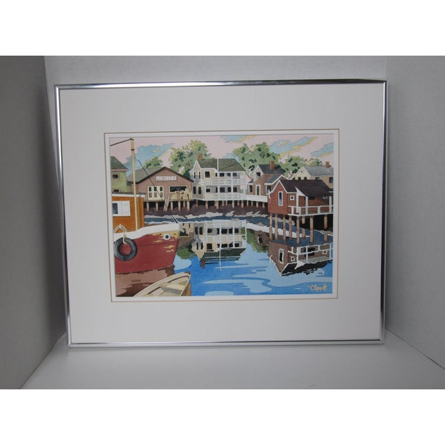 New England Watercolor Painting - Image 3 of 8