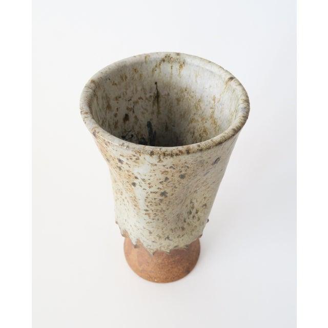 Vintage Ceramic Studio Pottery Vase For Sale - Image 4 of 5