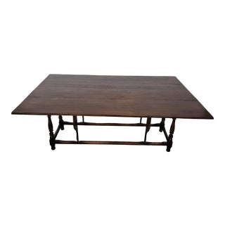 1870's Drop Leaf Dining Table For Sale