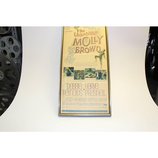 """Mid-Century Modern Movie Poster Orig. 1964 From """"The Unsinkable Molly Brown"""" With Debbie Reynolds For Sale - Image 3 of 7"""