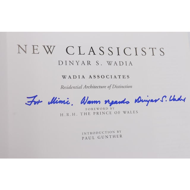 French Signed Coffee Table Book - New Classicists by Dinyar S. Wadia For Sale - Image 3 of 10