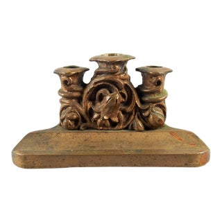 Art Nouveau Bronze Pen Holder