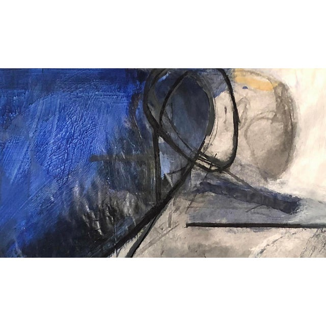 Abstract Cubist-Like Charcoal Figurative Drawing/Painting on Photo For Sale - Image 3 of 4