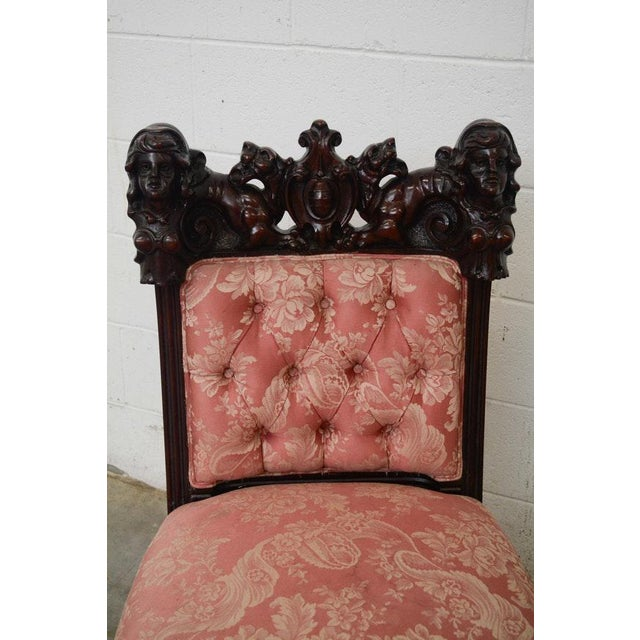 Early 20th Century Vintage S. Karpen & Bros. Renaissance Revival Mahogany Parlor Set- 3 Pieces For Sale - Image 4 of 13
