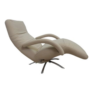 Vintage Ligne Roset Spider Base Recliner/Lounge Chair For Sale