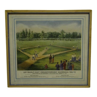 "1869 ""An Early-Day Championship Baseball Game"" Elysian Fields Hoboken Print For Sale"
