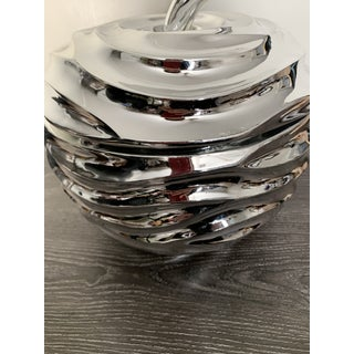 Large Chrome Contemporary Modern Apple Candy Dish / Box Preview