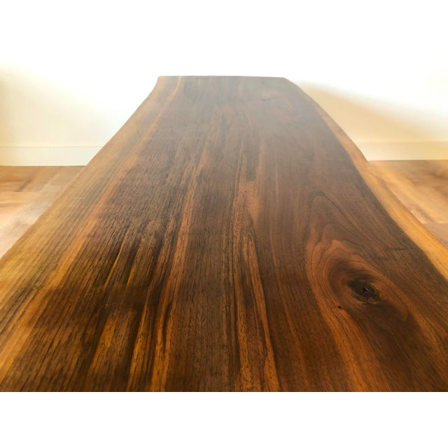 Modern Raw Edge Slab Coffee Table With Hair Pin Legs For Sale - Image 4 of 11