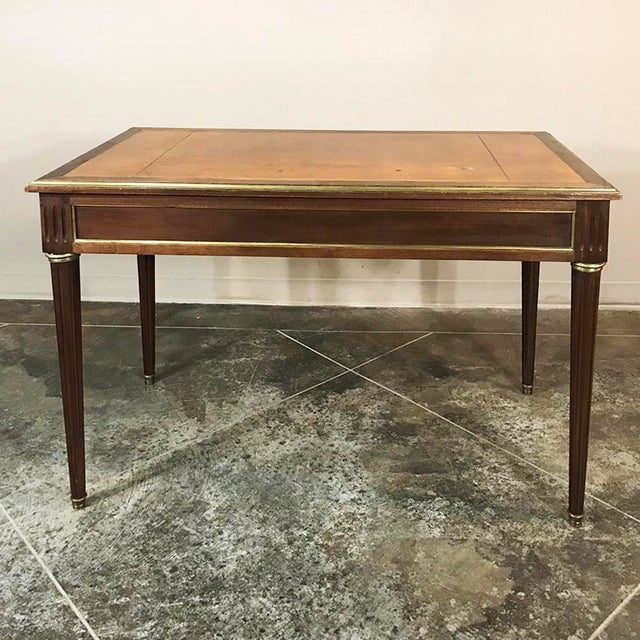 19th Century French Louis XVI Leather Top Desk For Sale In Dallas - Image 6 of 13