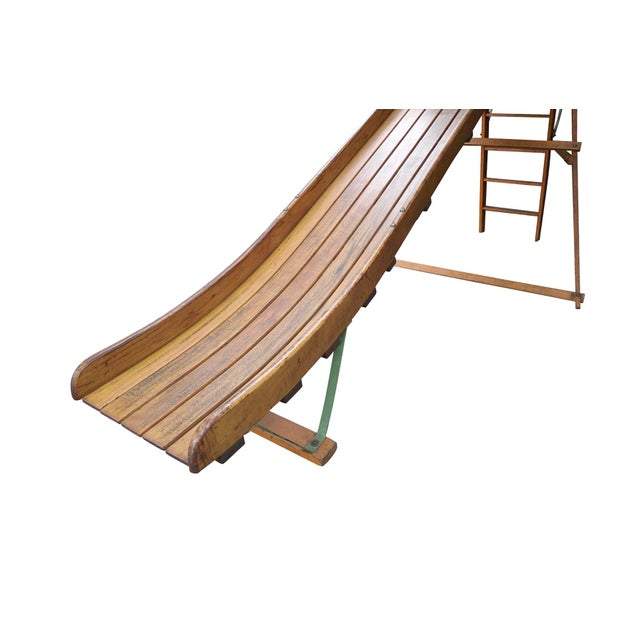 Wood Vintage 1940s Bent Wood Playground Slide For Sale - Image 7 of 11