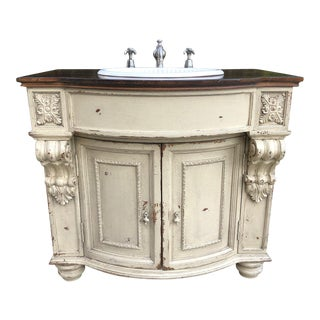 French Habersham Stafford Cream Cabinetry With Basin