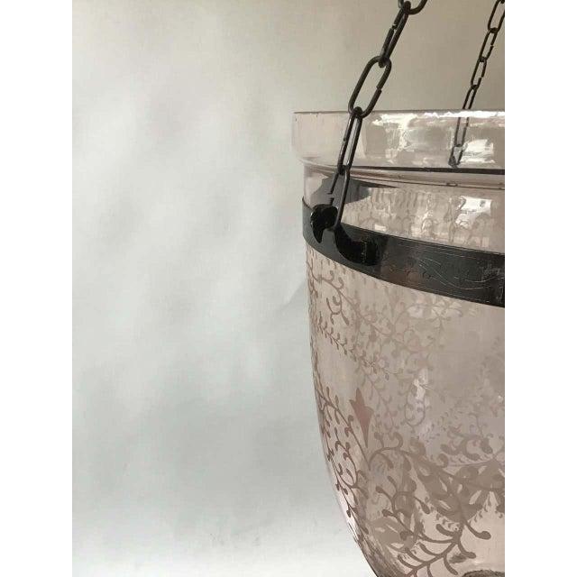 Pink Bell Jar Lantern For Sale - Image 9 of 11