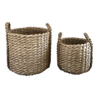 Raquel Round Baskets - A Pair For Sale