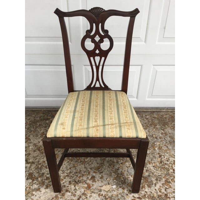 Hickory Chair Co. Mahogany Chippendale Style Dining Chairs ...
