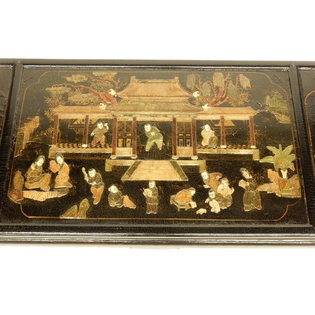 Traditional Lacquered Chinoiserie Coffee Table For Sale - Image 3 of 11