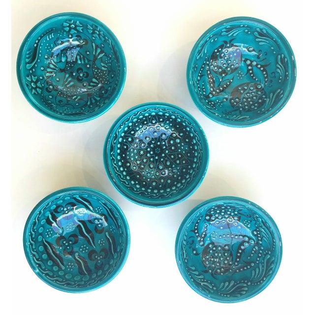 Turquoise Bowls - Set of 5 - Image 2 of 5