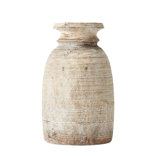 Medium Early 20th Century French Turned Wood Vessel Pot For Sale